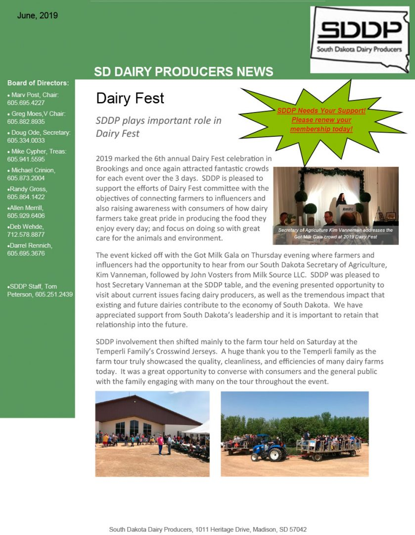 SDDP Member Newsletter June 2019