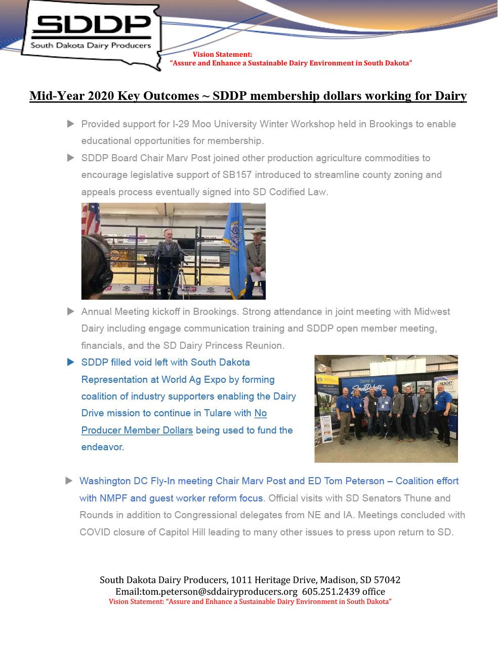 SDDP Member Newsletter June 2020