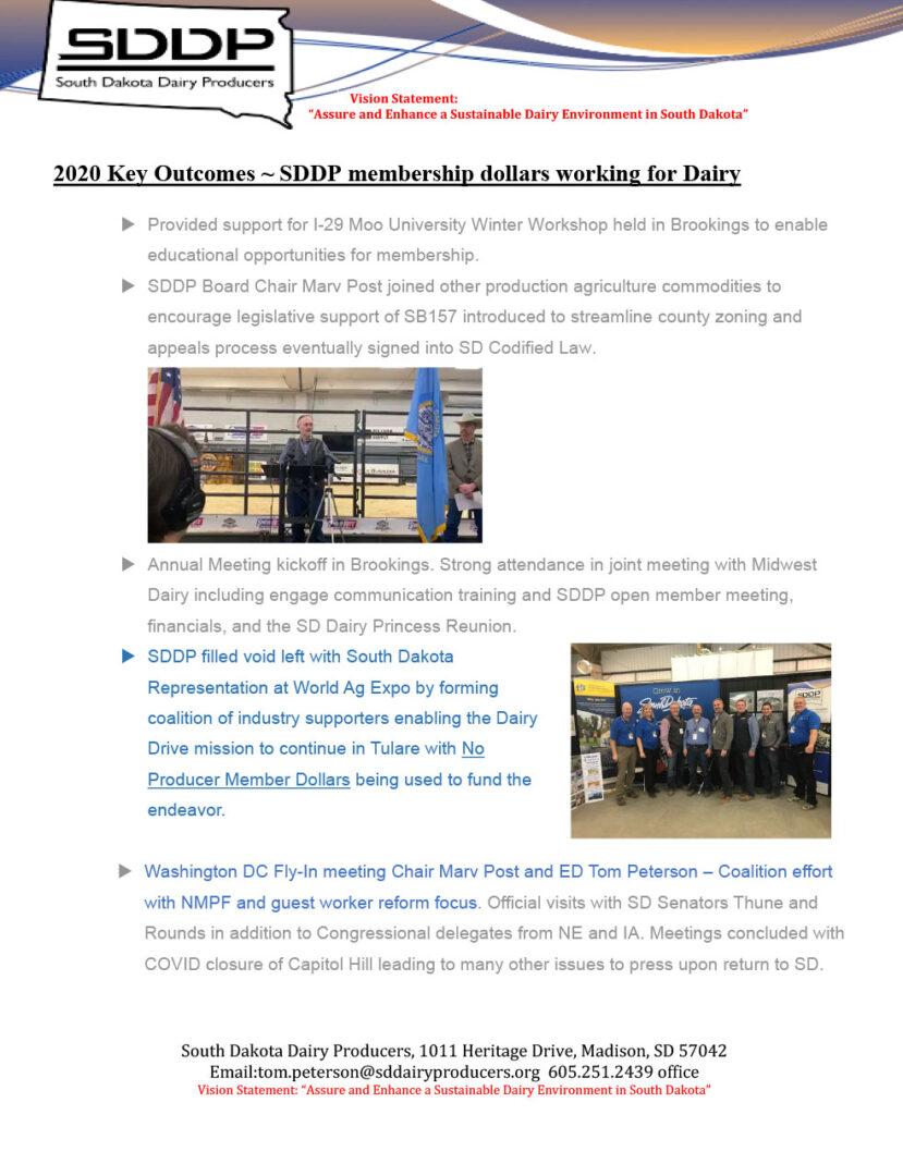 SDDP Member Newsletter December 2020