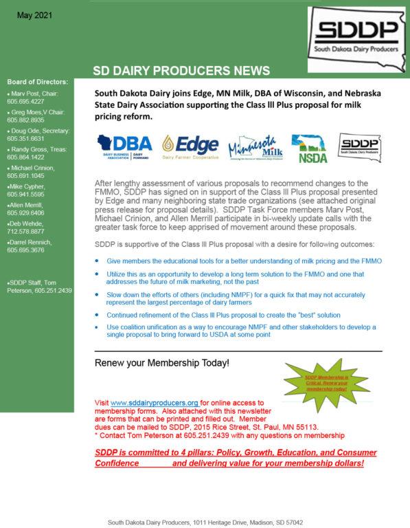 SDDP Member Newsletter May 2021